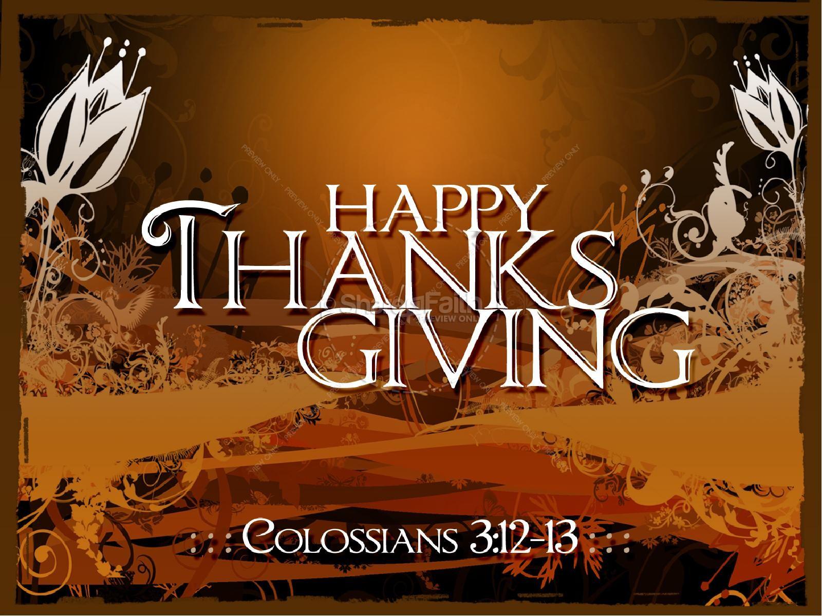 Thanksgiving Happiness Sermon PowerPoint | slide 1
