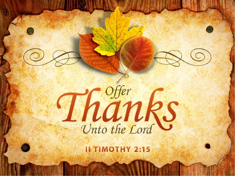 Offer Thanks Sermon PowerPoint