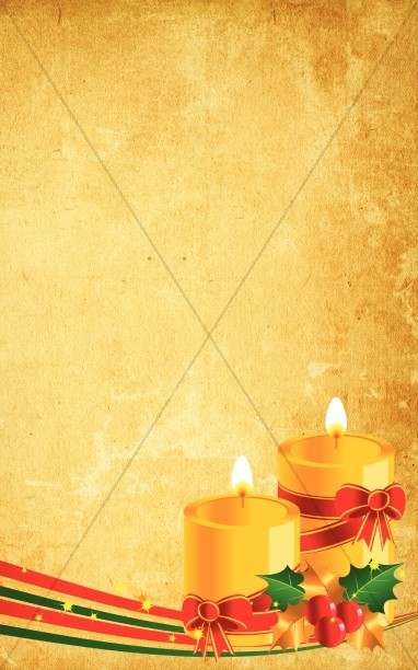 Christmas Candle Bulletin Cover