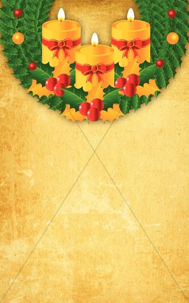 Christmas Wreath Bulletin Cover