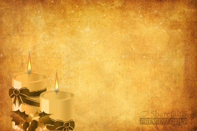 Christmas Candles Video Background