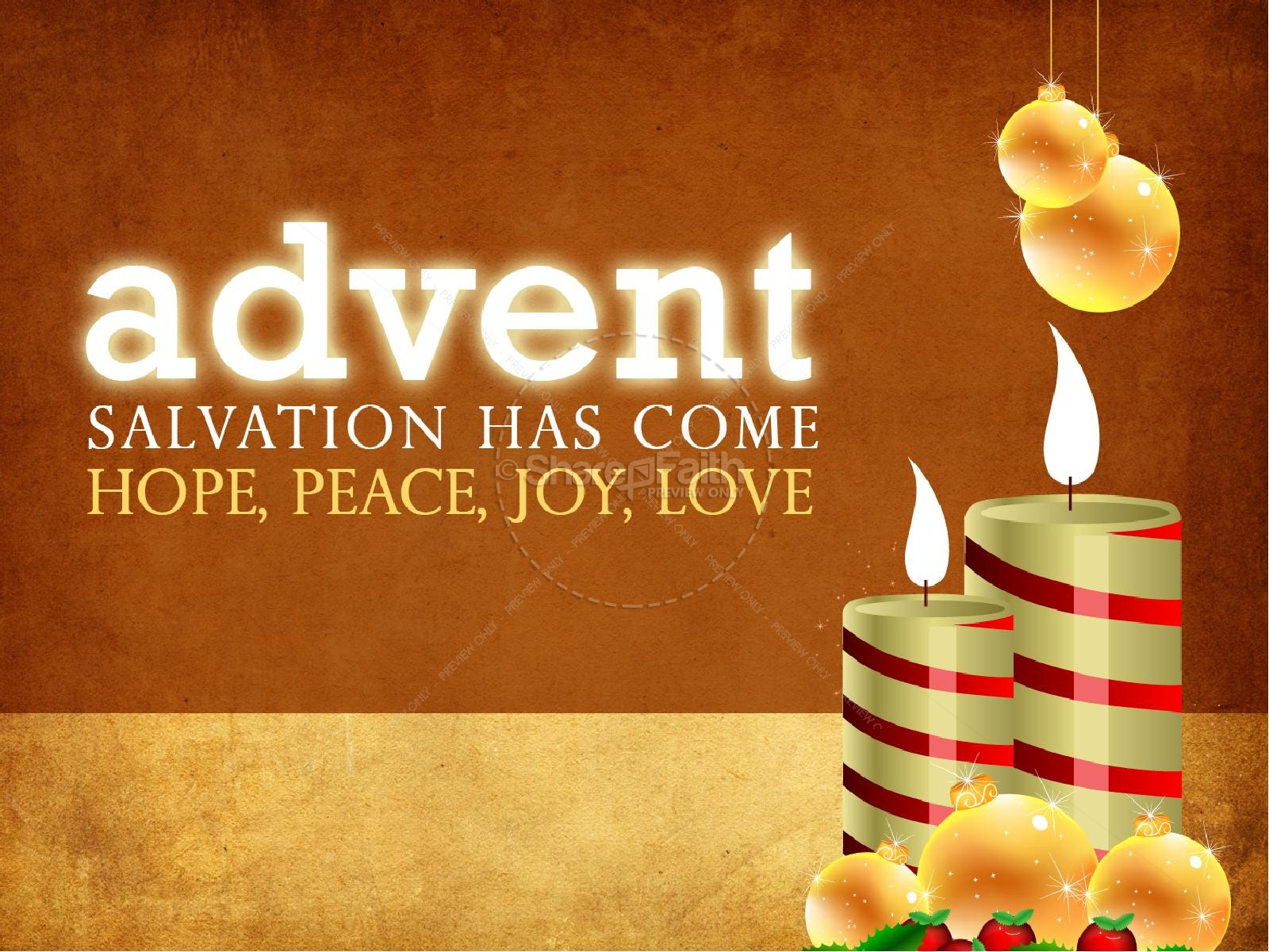 Advent Sermon PowerPoint | slide 1