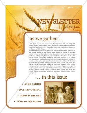 History Of Thanksgiving Newsletter Template