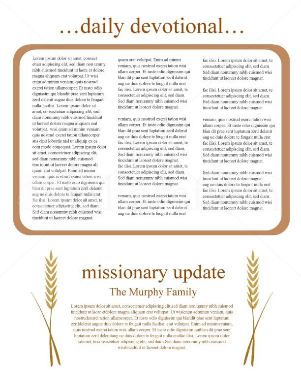 History Of Thanksgiving Newsletter Template | page 2