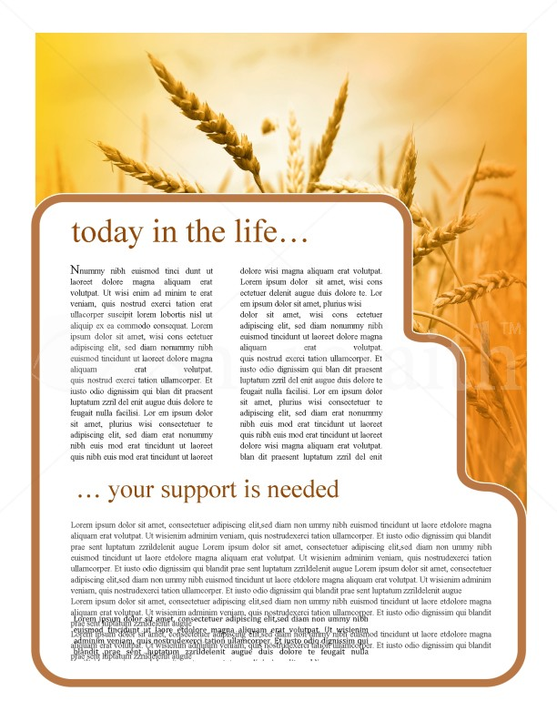 History Of Thanksgiving Newsletter Template | page 3