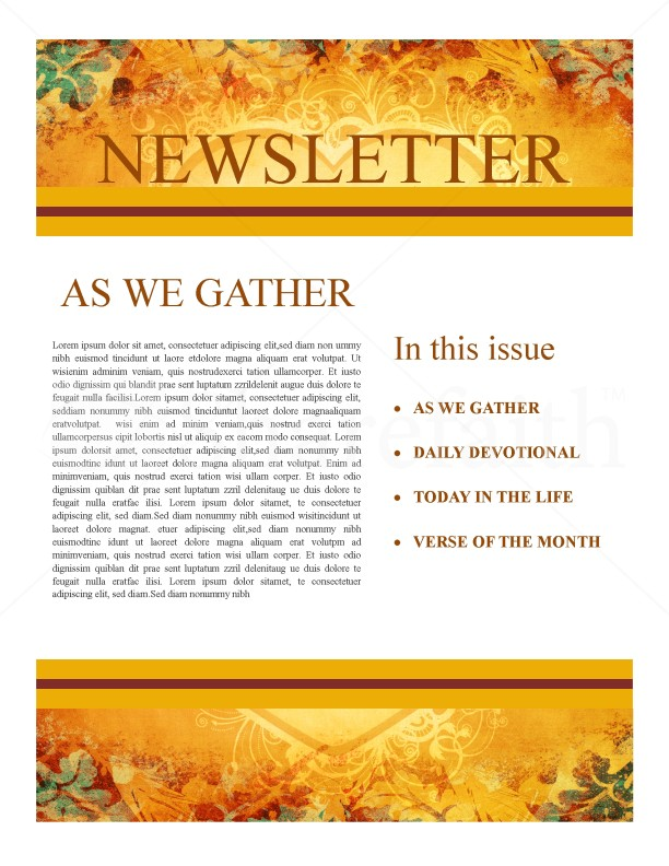 Heart of thanksgiving newsletter template newsletter templates heart of thanksgiving newsletter spiritdancerdesigns Images