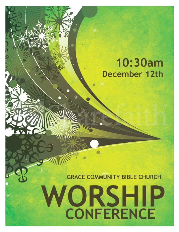 Worship Conference Flyer Template Flyer Templates - Free church flyer templates microsoft word