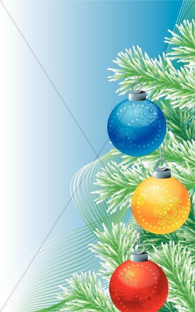 Christmas Ornaments Program Cover