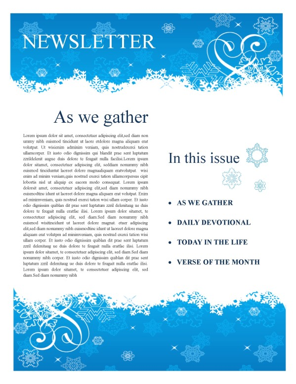 Winter Church Newsletter