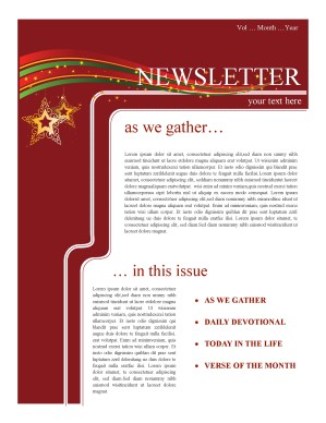 Holiday Newsletter Template | Newsletter Templates