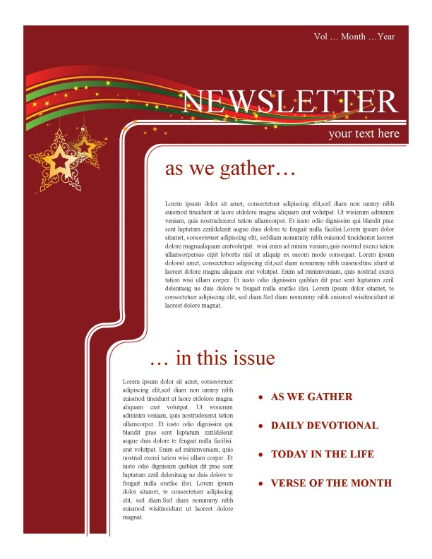 Holiday Newsletter Template Newsletter Templates