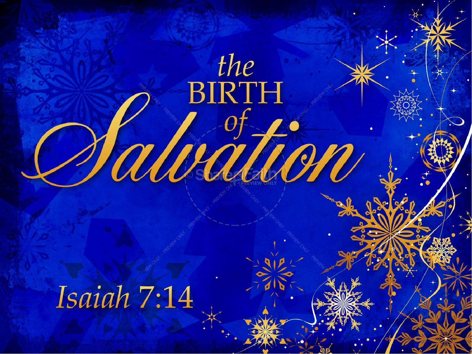 Birth Of Salvation Church Powerpoint Christmas Powerpoints