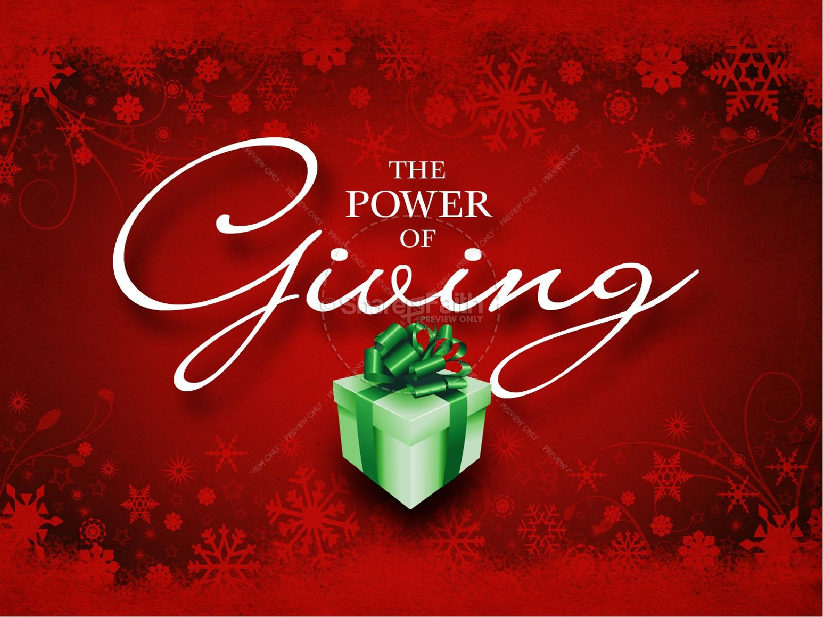 the power of giving powerpoint presentation | christmas powerpoints, Powerpoint templates