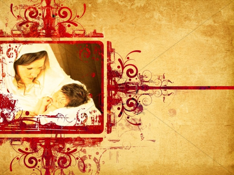 Mary and Baby Jesus Background Slide