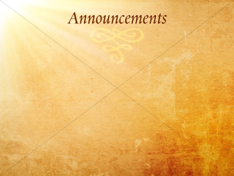 Church Announcements, Announcement Backgrounds - Sharefaith