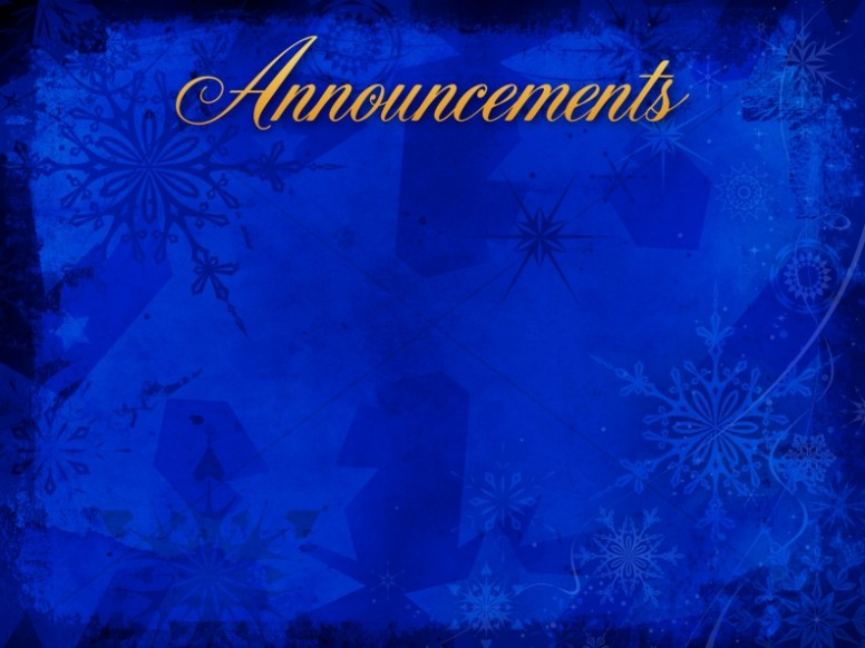 Christmas Snowflake Announcement Background