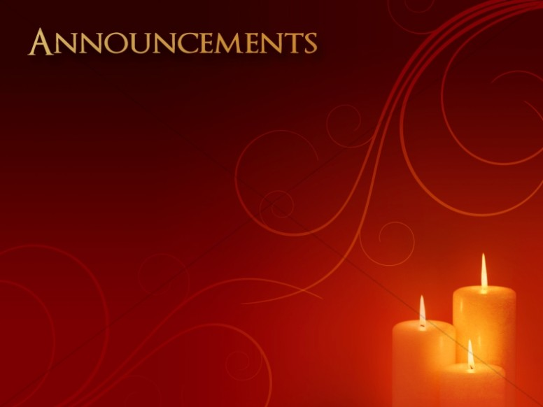 Christmas Carol Announcement Background | Church Announcements
