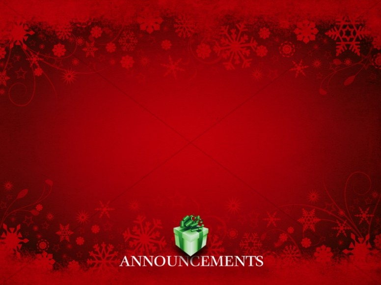 Holiday Gift Announcement Background
