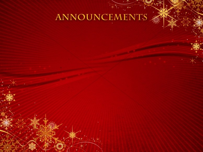 snowflakes background slide church announcements