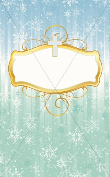Winter Snowflake Label Bulletin