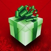 Red and Green Christmas Present Email Image