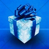 Blue Christmas Gift Email Image