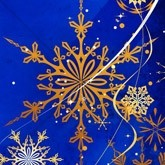 Intricate Gold Snowflake Email Image
