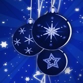 Blue Christmas Ornaments Email Image
