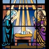 Stained Glass Nativity Email Image