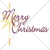 Merry Christmas Star Email Salutation