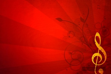 Red and Gold Treble Clef Christmas Video Background