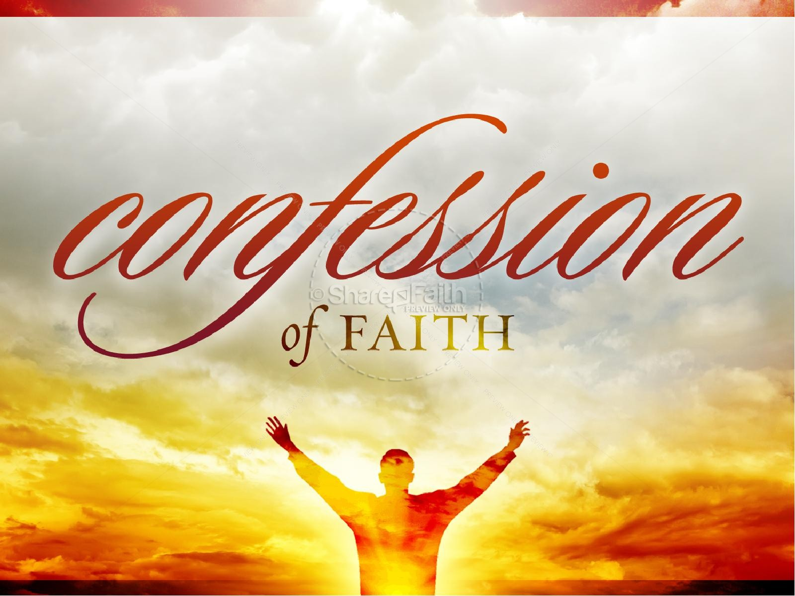 Lent Confession PowerPoint Sermon