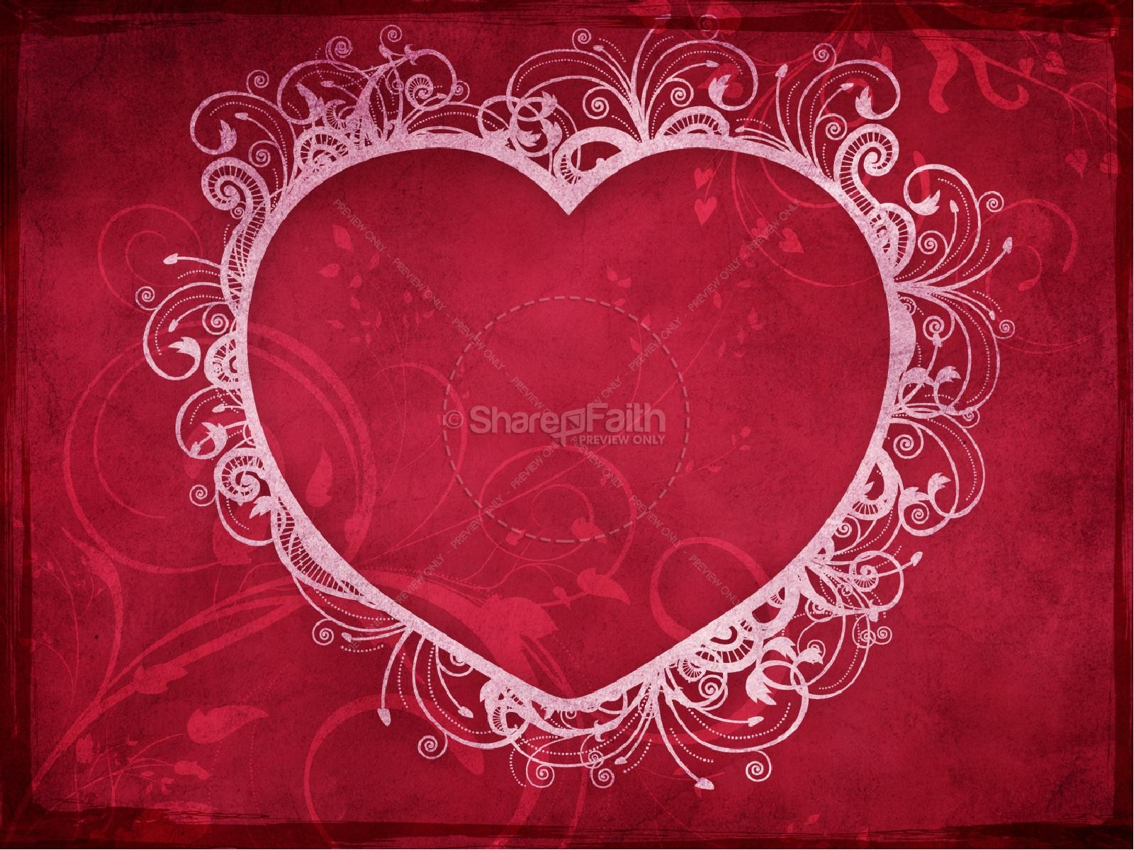 love heart valentines day powerpoint template | valentines day, Modern powerpoint