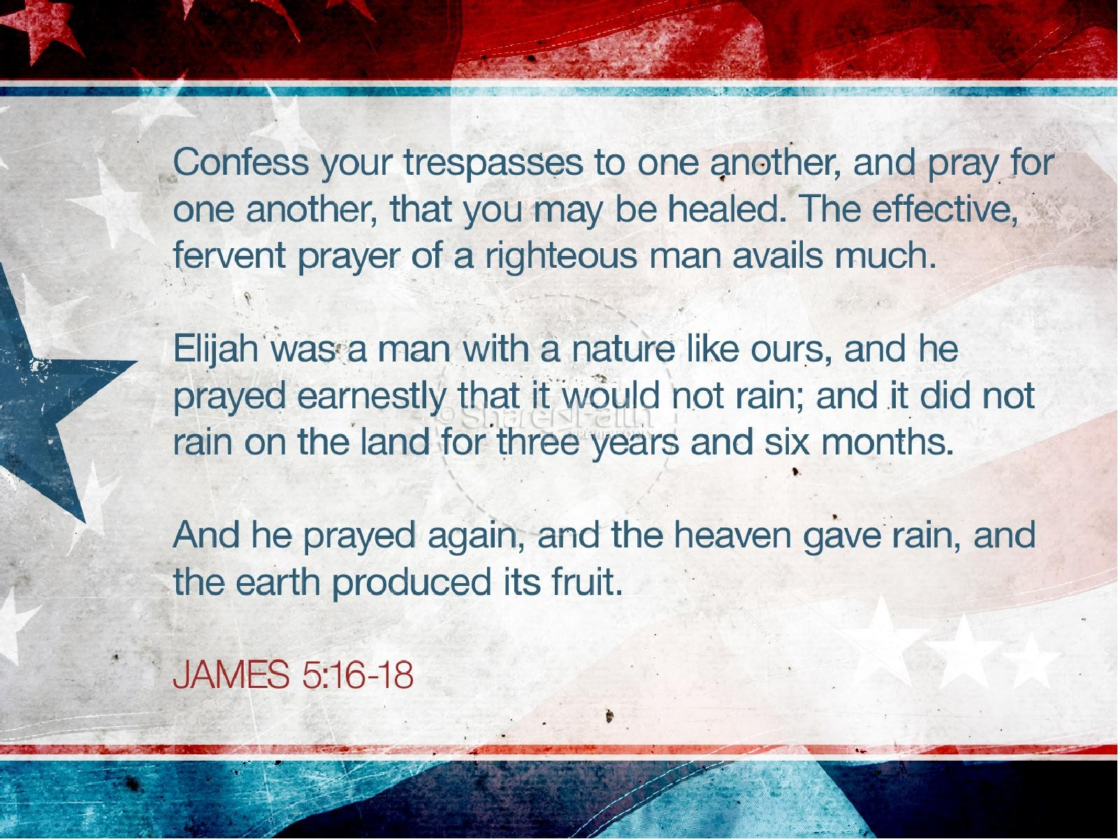 Memorial Day Prayer PowerPoint Template