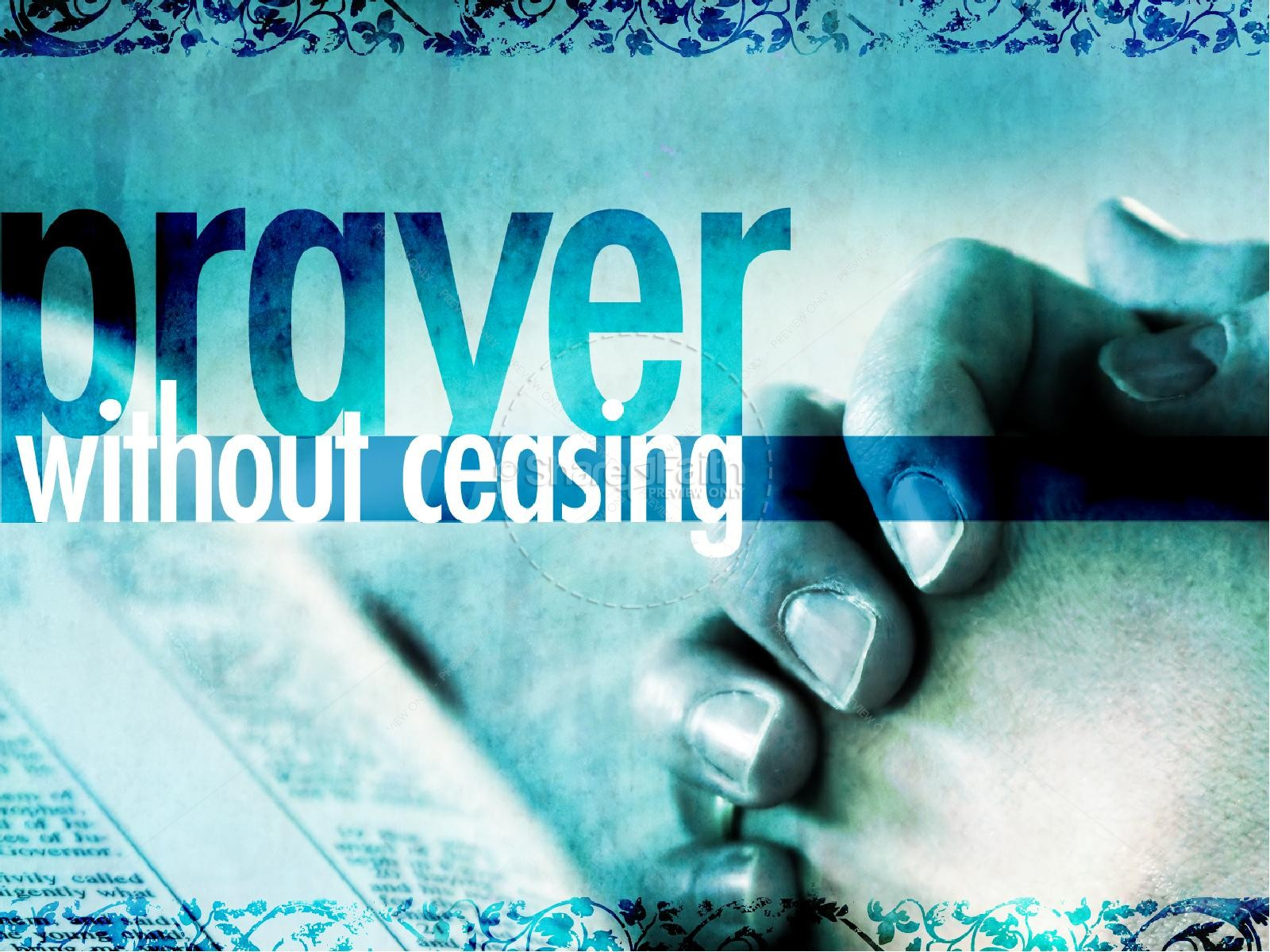 Prayer Without Ceasing PowerPoint Template