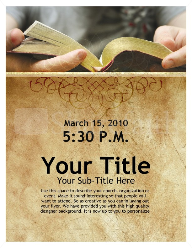 Bible Study Free PSD Flyer Template - psdFlyer.co