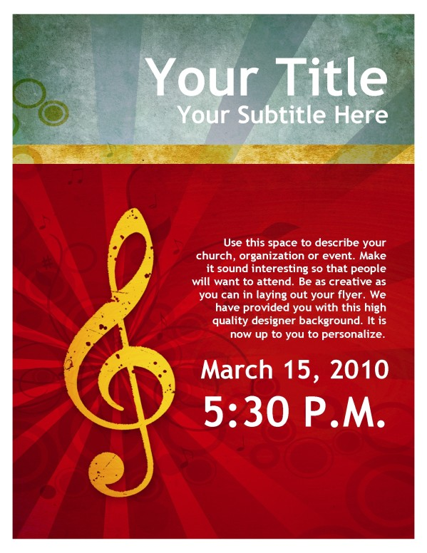 Music Service Flyer