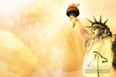Statue of Liberty Worship Background Video