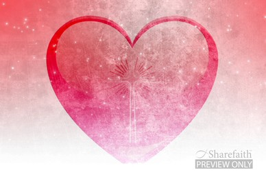 Valentines Day Large Heart Worship Background Video
