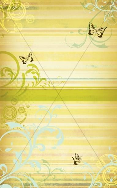 Spring Butterfly Art Christian Bulletin Cover