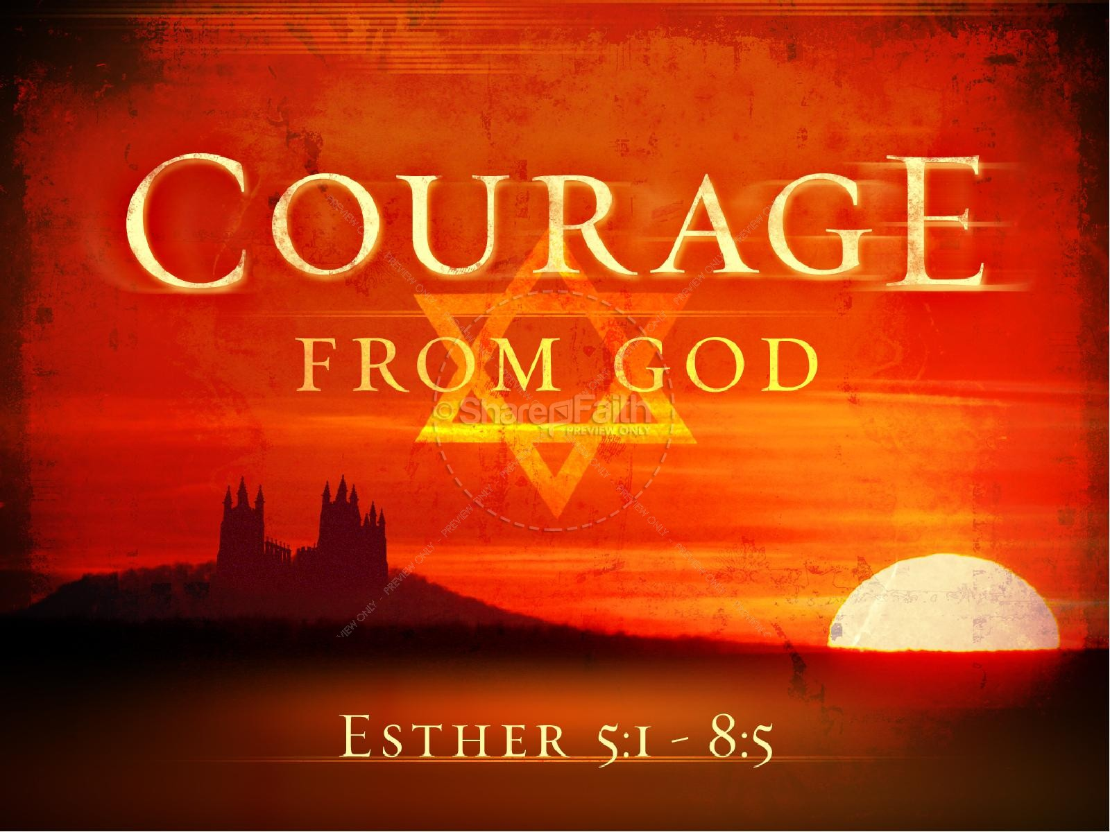 Be strong and courageous church powerpoint template powerpoint sermons jewish purim powerpoint toneelgroepblik Choice Image