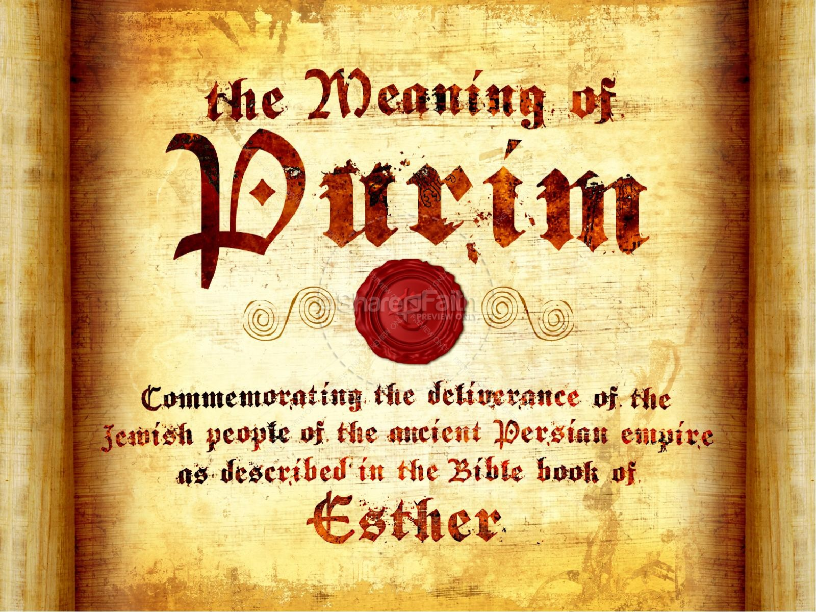 Feast Of Purim Powerpoint Template