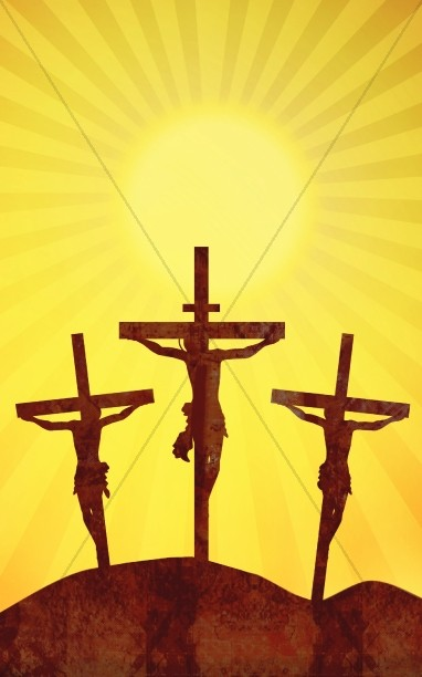 Golgotha Crucifixion Good Friday Bulletin Cover