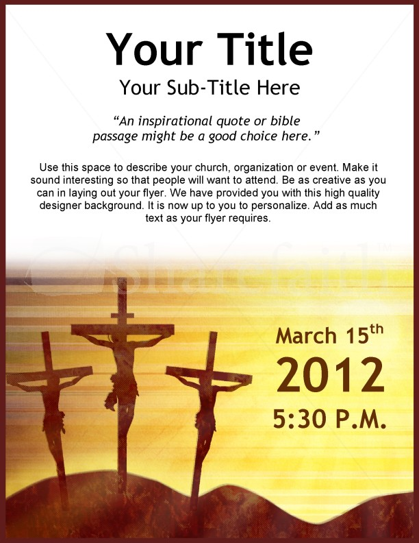 Jesus Crucifixion Flyer