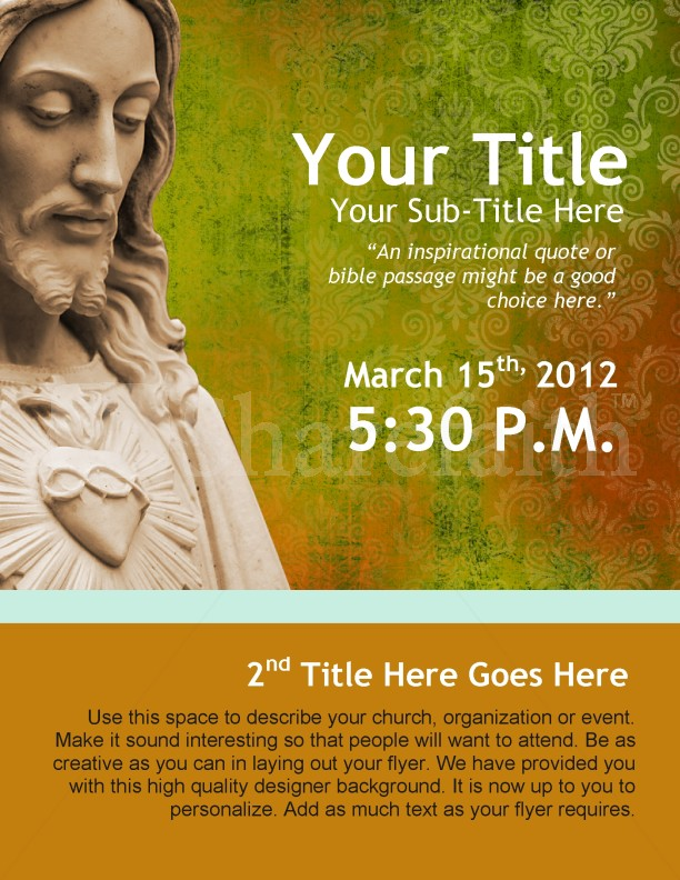 Easter Jesus Flyer Design
