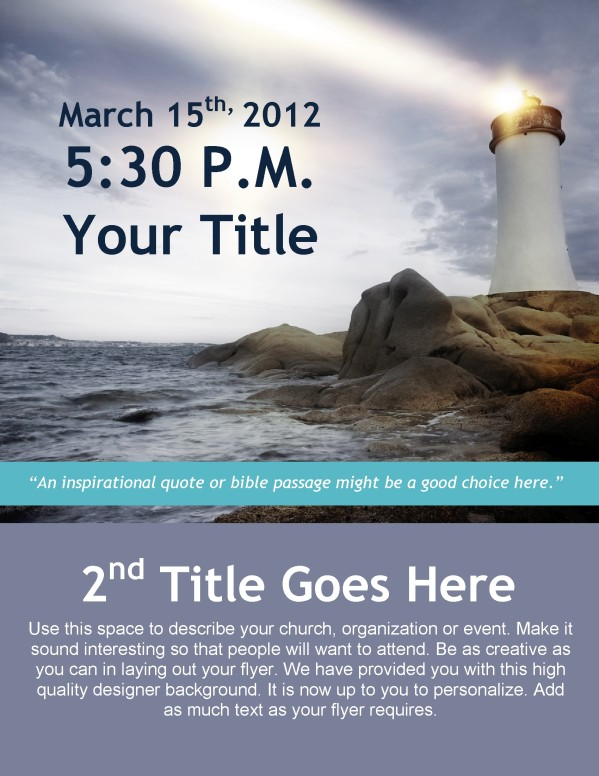 Safe Harbor Flyer Design