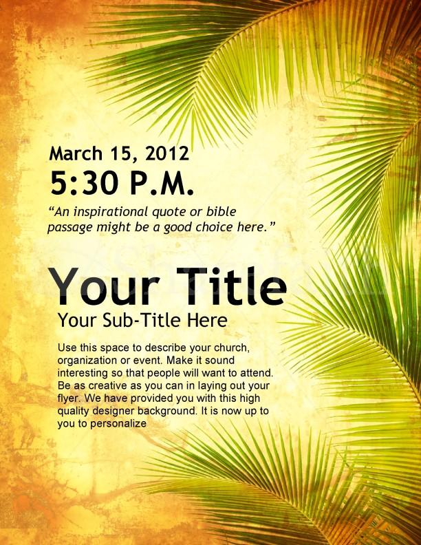 Easter Palm Sunday Flyer Design