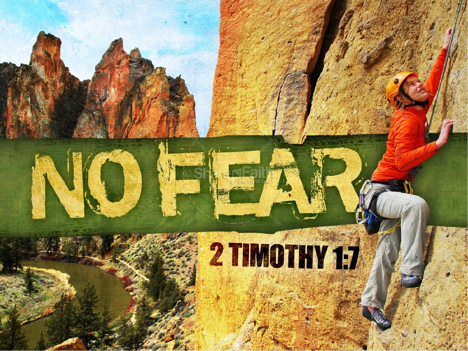 No Fear PowerPoint Sermon | slide 1