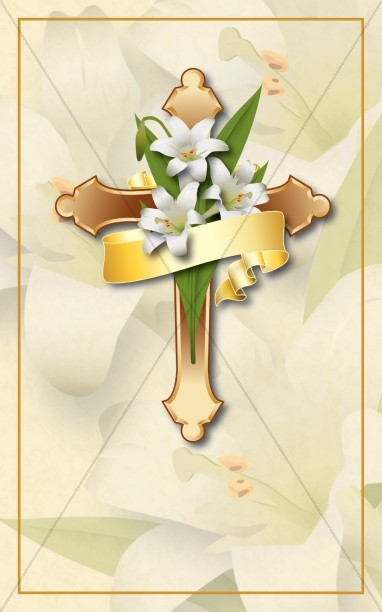 Easter Lily Bulletin Cover