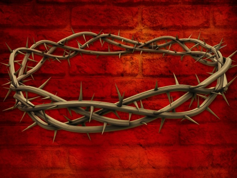 Golgotha Crown of Thorns Wallpaper Background